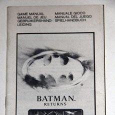 Videojuegos y Consolas: MANUAL DE INSTRUCCIONES BATMAN RETURNS ATARI LYNX. Lote 52973777