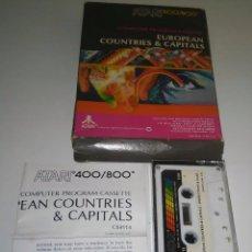 Videojuegos y Consolas: 918- EUROPEAN COUNTRIES CAPITALS ATARI 400/800 CX4114. Lote 54115038