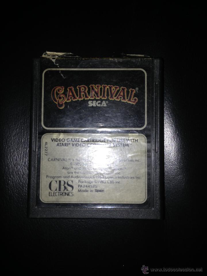 CARNIVAL VIDEOJUEGO ATARI 2600 JUEGO SEGA CARTRIDGE CBS ELECTRONICS (Juguetes - Videojuegos y Consolas - Atari)