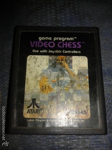 JUEGO,CARTUCHO ATARI 2600,VIDEO CHESS (Juguetes - Videojuegos y Consolas - Atari)
