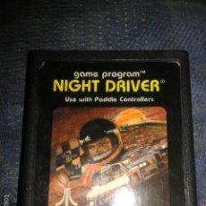 Videojuegos y Consolas: JUEGO,CARTUCHO,ATARI 2600,NIGHT DRIVER. Lote 56107543