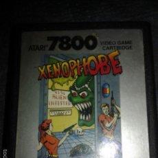 Videojuegos y Consolas: JUEGO,CARTUCHO,ATARI 7800,XENOPHOBE. Lote 56110071
