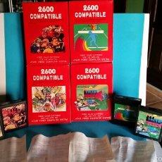 Videojuegos y Consolas: LOTE CARTUCHOS 2600 COMPATIBLE CON 8 JUEGOS CADA UNO PARA ATARI. Lote 253232390