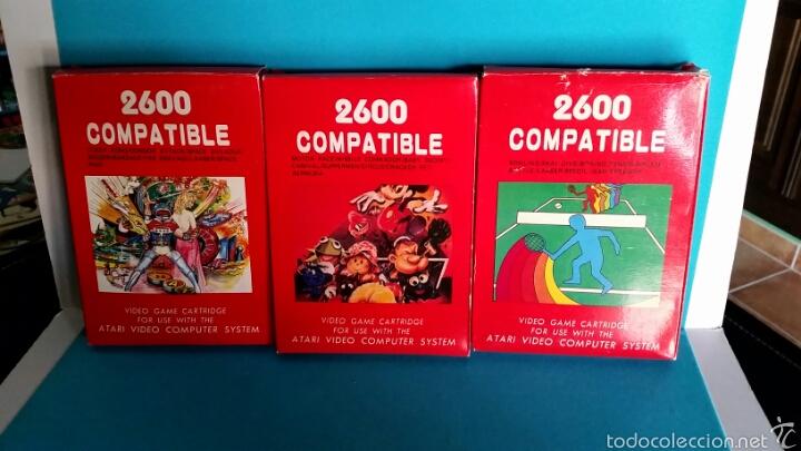LOTE TRES JUEGOS ATARI 2600 COMPATIBLE (Juguetes - Videojuegos y Consolas - Atari)