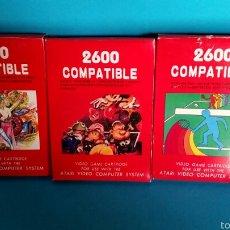 Videojuegos y Consolas: LOTE TRES JUEGOS ATARI 2600 COMPATIBLE. Lote 57822652