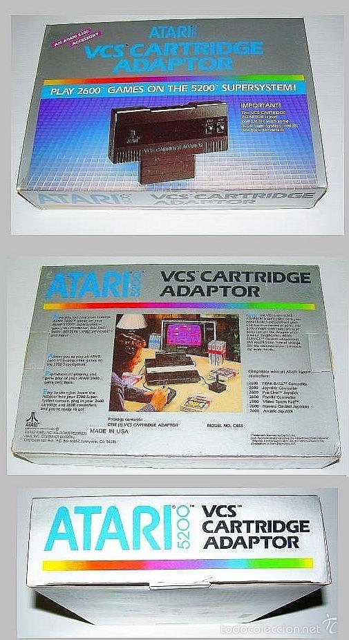 ATARI 5200 VCS 2600 CARTRIDGE ADAPTOR ADAPTADOR ADAPTER [NUEVO] (Juguetes - Videojuegos y Consolas - Atari)