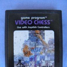 Videojuegos y Consolas: CARTUCHO DE VIDEOJUEGO VIDEO CHESS DE ATARI 1978. Lote 58889941