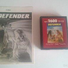 Videojuegos y Consolas: JUEGO E INSTRUCCIONES DEFENDER CARTUCHO ORIGINAL ATARI 2600 PAL.. Lote 59991131