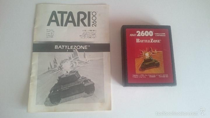 JUEGO E INSTRUCCIONES BATTLEZONE BATTLE ZONE CARTUCHO ORIGINAL ATARI 2600 PAL. (Juguetes - Videojuegos y Consolas - Atari)
