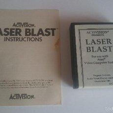 Videojuegos y Consolas: JUEGO E INSTRUCCIONES LASER BLAST CARTUCHO ORIGINAL ATARI 2600 PAL.. Lote 59991855