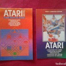 Videojuegos y Consolas: 2 CATÁLOGOS DE JUEGOS ATARI OFICIAL MUY BUEN ESTADO VIDEOJUEGOS PROMOCIONAL ORIGINAL (1982, WARNER). Lote 62112504