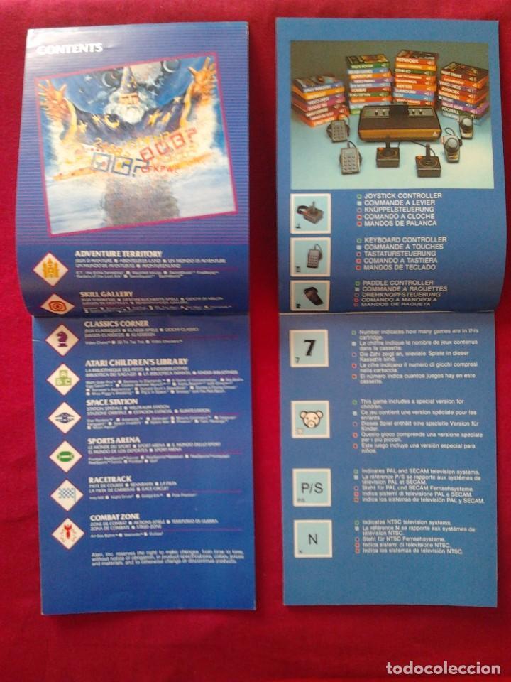 Videojuegos y Consolas: 2 CATÁLOGOS DE JUEGOS ATARI OFICIAL MUY BUEN ESTADO VIDEOJUEGOS PROMOCIONAL ORIGINAL (1982, WARNER) - Foto 4 - 62112504
