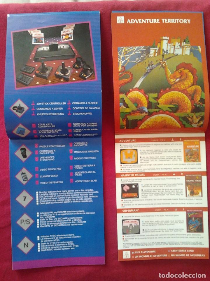 Videojuegos y Consolas: 2 CATÁLOGOS DE JUEGOS ATARI OFICIAL MUY BUEN ESTADO VIDEOJUEGOS PROMOCIONAL ORIGINAL (1982, WARNER) - Foto 5 - 62112504