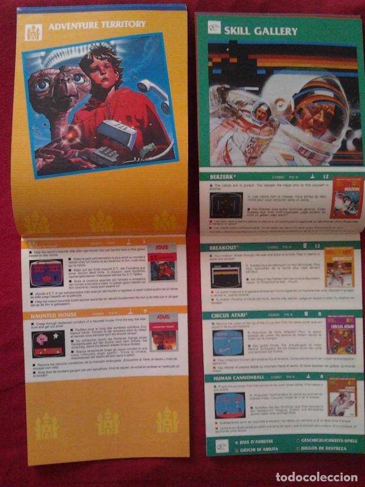 Videojuegos y Consolas: 2 CATÁLOGOS DE JUEGOS ATARI OFICIAL MUY BUEN ESTADO VIDEOJUEGOS PROMOCIONAL ORIGINAL (1982, WARNER) - Foto 6 - 62112504