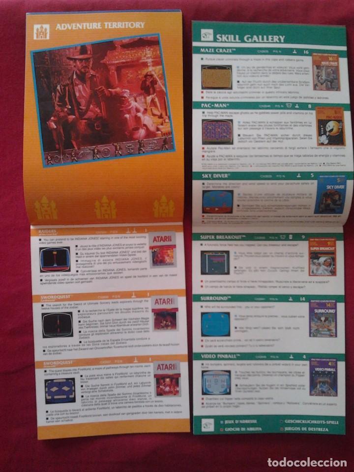 Videojuegos y Consolas: 2 CATÁLOGOS DE JUEGOS ATARI OFICIAL MUY BUEN ESTADO VIDEOJUEGOS PROMOCIONAL ORIGINAL (1982, WARNER) - Foto 7 - 62112504