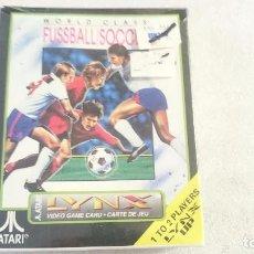 Videojuegos y Consolas: JUEGO WORLD CLASS SOCCER FUSSBALL ATARI LYNX NUEVO PRECINTADO PAL. SEALED. Lote 67877029