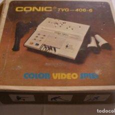 Videojuegos y Consolas: ANTIGUA CONSOLA CONIC CON MANDOS Y PISTOLA - JUEGOS INCLUIDOS. Lote 128694554