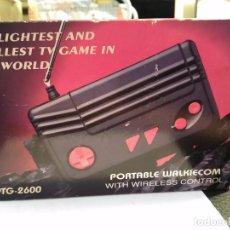 Videojuegos y Consolas: CONSOLA CLON ATARI PTG-2600 PORTABLE WALKIECOM NUEVA A ESTRENAR CON MANDO INALÁMBRICO RARISIMA LEER . Lote 88825812