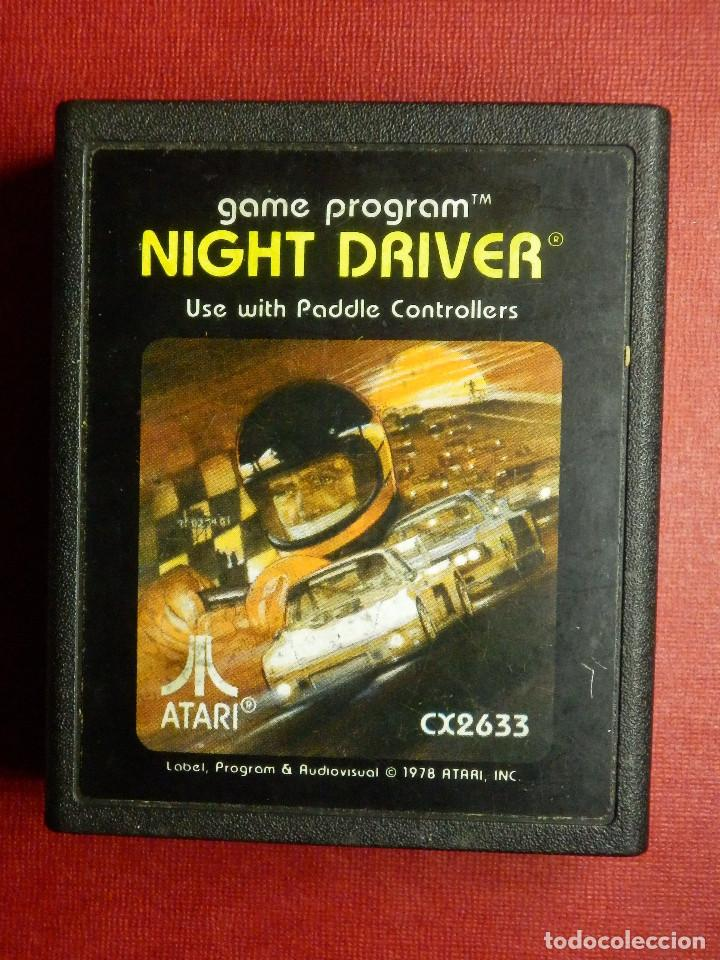 JUEGO CONSOLA - ATARI - NIGTH DRIVER - 1982 - CX2638 - 1978 - (Juguetes - Videojuegos y Consolas - Atari)
