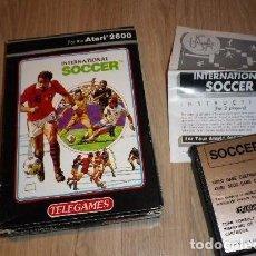 Videojuegos y Consolas: ATARI 2600 INTERNATIONAL SOCCER COMPLETO. Lote 91796525