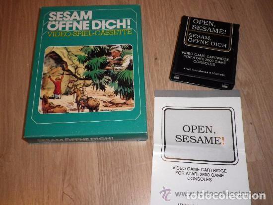 ATARI 2600 JUEGO SESAM OFFNE DICH! COMPLETO (Juguetes - Videojuegos y Consolas - Atari)