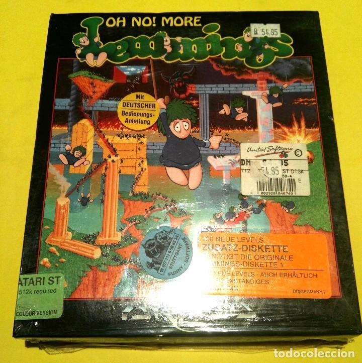 VIDEOJUEGO ATARI: OH NO, MORE LEMMINGS! PRECINTADO. PRIMERA EDICIÓN. RETRO INFORMÁTICA COLECCIONISMO (Juguetes - Videojuegos y Consolas - Atari)