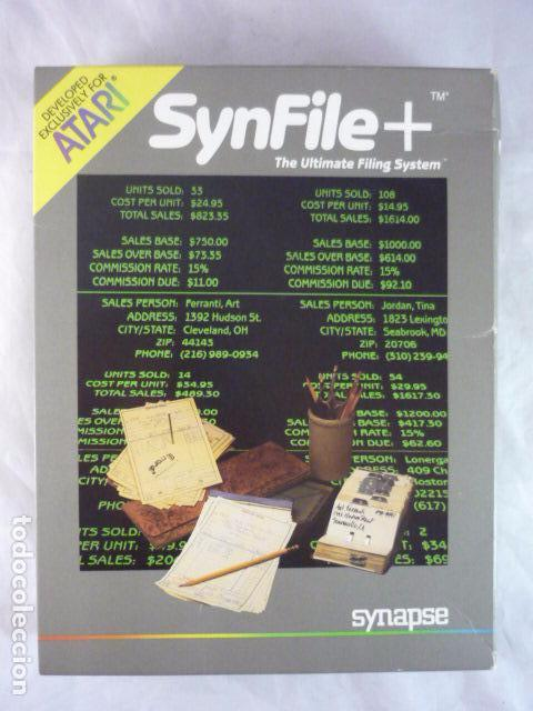 ATARI SYNFILE+ - SYNAPSE AX2031 - USA 1983 - SIN DISCO (Juguetes - Videojuegos y Consolas - Atari)
