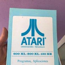 Videojuegos y Consolas: MANUAL ATARI 600 XL 800 XL 130 XE - PROGRAMAS APLICACIONES Y EJERCICIOS PRACTICOS. Lote 99102151