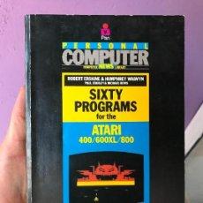 Videojuegos y Consolas: LIBRO 16 PROGRAMAS PARA ATARI - 400 600 XL Y 800. Lote 99102731