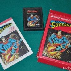 Videojuegos y Consolas: SUPERMAN CX 2631 PAL ATARI , JUEGO EN CAJA CON INSTRUCCIONES. Lote 100989427