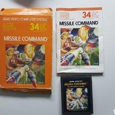 Videojuegos y Consolas: JUEGO ATARI MISSILE COMMAND CON CAJA E INSTRUCCIONES. Lote 109828228