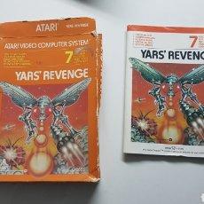 Videojuegos y Consolas: YAR'S REVENGE ATARI CAJA E INSTRUCCIONES ( NO INCLIYE JUEGO!! ). Lote 109828860