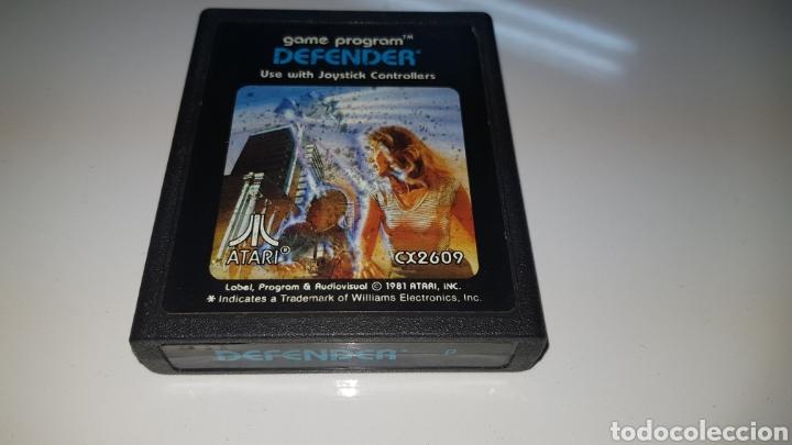 JUEGO DEFENDER ATARI ORIGINAL CARTUCHO (Juguetes - Videojuegos y Consolas - Atari)