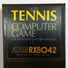 Videojuegos y Consolas: VIDEOJUEGO TENNIS - COMPUTER GAME - ATARI 400 800 XL XE - BY ATARI 1983 - RX8042 - CARTUCHO. Lote 112313579