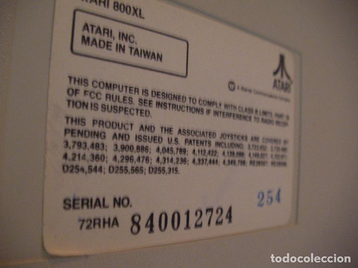 Videojuegos y Consolas: ANTIGUA CONSOLA ATARI COMPUTER 800 XL - Foto 7 - 114654139