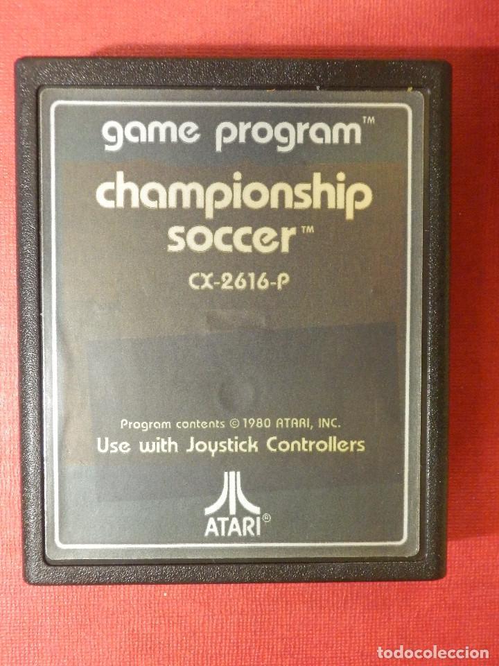 JUEGO - VIDEOJUEGO - CHAMPIONSHIP SOCCER - GAME PROGRAM - CX-2616-P - CAMPEONATO DE FUTBOL (Juguetes - Videojuegos y Consolas - Atari)