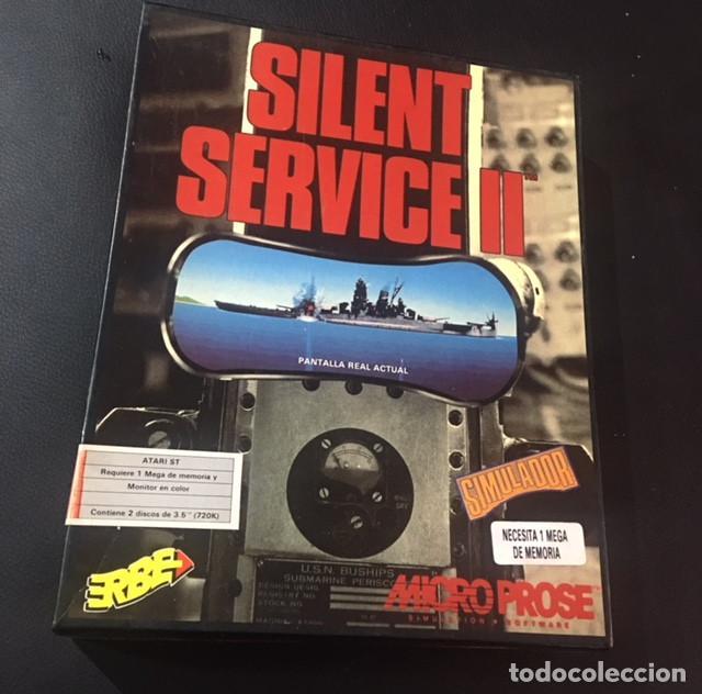 JUEGO DE ORDENADOR ATARI ST SILENT SERVICE II ERBE (Juguetes - Videojuegos y Consolas - Atari)