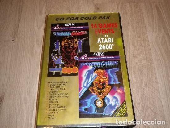 ATARI 2600 JUEGO GO FOR GOLD PAK 14 GAMES EVENTS (Juguetes - Videojuegos y Consolas - Atari)
