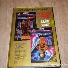 Videojuegos y Consolas: ATARI 2600 JUEGO GO FOR GOLD PAK 14 GAMES EVENTS. Lote 121051059