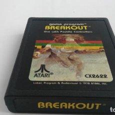 Jeux Vidéo et Consoles: JUEGO PARA ATARI BREAKOUT . Lote 121853575