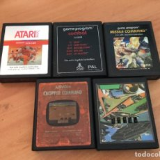 Videojuegos y Consolas: ATARI LOTE 5 VIDEOJUEGOS (CAI2). Lote 127537071