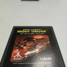 Videojuegos y Consolas: NIGHT DRIVER - ATARI 2600 - PAL - JUEGO EN CARTUCHO ORIGINAL AÑO 1978. Lote 130107179