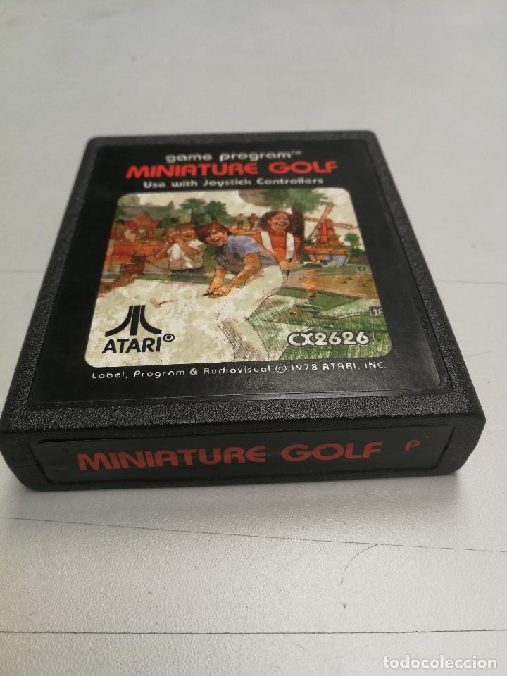 UNICO TC MINIATURE GOLF - ATARI 2600 - PAL - JUEGO EN CARTUCHO ORIGINAL AÑO 1978 (Juguetes - Videojuegos y Consolas - Atari)
