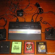 Videojuegos y Consolas: CONSOLA ATARI 2600 JR. (1986) CON ACCESORIOS ORIGINALES Y 4 CARTUCHOS (FUNCIONANDO). Lote 130373406