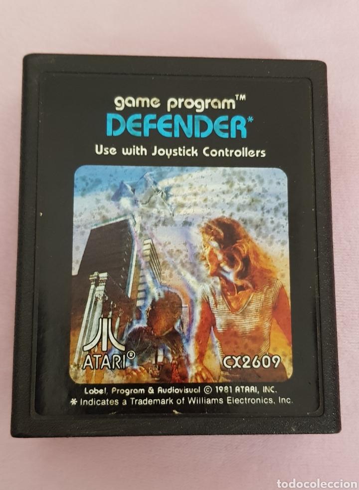 JUEGO ATARI DEFENDER0AÑOS 80 EN PERFECTO ESTADO (Juguetes - Videojuegos y Consolas - Atari)