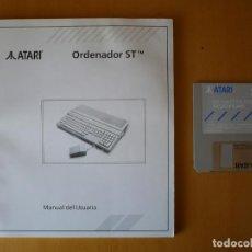 Videojuegos y Consolas: MANUAL EN ESPAÑOL DEL ATARI ST Y DISQUETE DB MASTER ONE NEOCHROME.. Lote 134186526