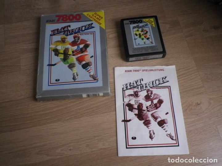 ATARI 7800 JUEGO HAT TRICK COMPLETO (Juguetes - Videojuegos y Consolas - Atari)