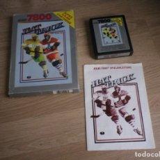 Videojuegos y Consolas: ATARI 7800 JUEGO HAT TRICK COMPLETO. Lote 134905702