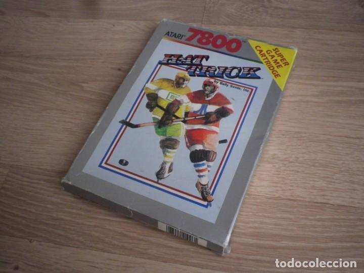 Videojuegos y Consolas: ATARI 7800 JUEGO HAT TRICK COMPLETO - Foto 2 - 134905702