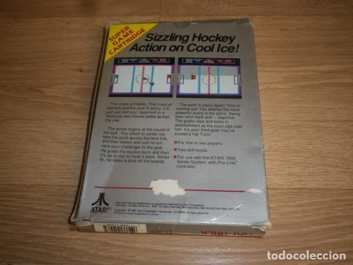 Videojuegos y Consolas: ATARI 7800 JUEGO HAT TRICK COMPLETO - Foto 3 - 134905702